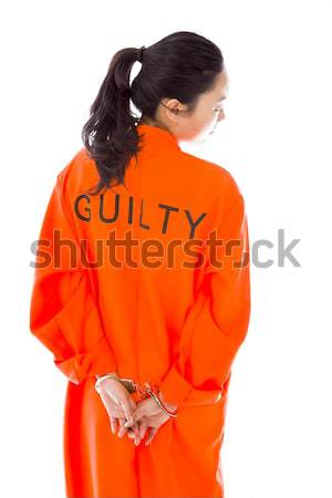 Asiático mulher jovem uniforme mulher Foto stock © bmonteny