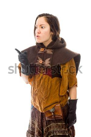 Young woman looking scared and shivering Stock photo © bmonteny