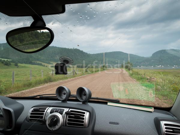 út falu szélvédő autó Quebec Kanada Stock fotó © bmonteny