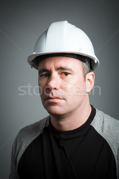 Stock photo: Caucasian man contractor 40 years old