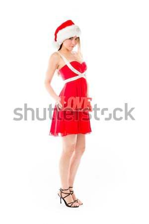 Sexy азиатских Дед Мороз привлекательный Сток-фото © bmonteny