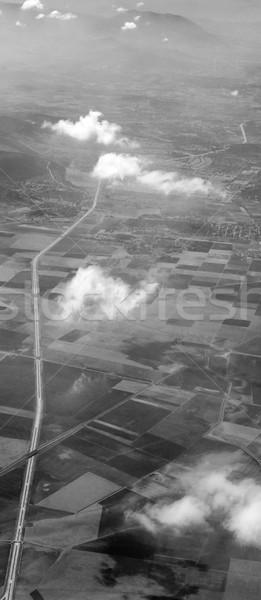 Légifelvétel mezőgazdasági tájkép Mexikóváros Mexikó természet Stock fotó © bmonteny