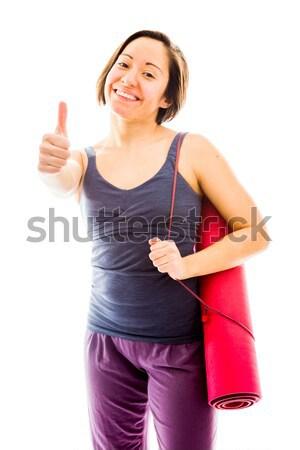 若い女性 行使 祝う 成功 ストックフォト © bmonteny