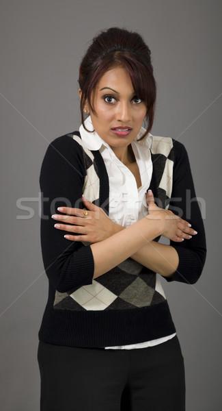 Indian businesswoman shivering Stock photo © bmonteny