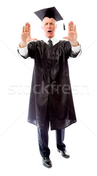 старший мужчины выпускник стороны Сток-фото © bmonteny