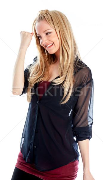 魅力的な 白人 ブロンド 30年 古い 少女 ストックフォト © bmonteny
