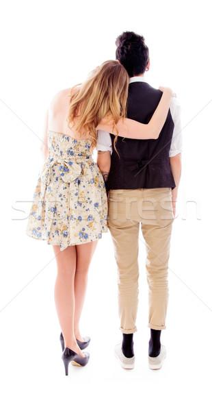 Lésbica casal sapato panorâmico em pé Foto stock © bmonteny
