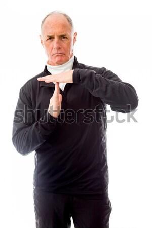 старший человека время из знак Сток-фото © bmonteny