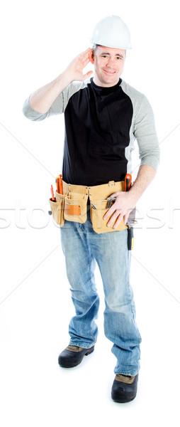 Caucasian man contractor 40 years old Stock photo © bmonteny