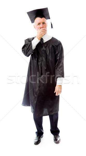старший мужчины выпускник стороны образование Сток-фото © bmonteny