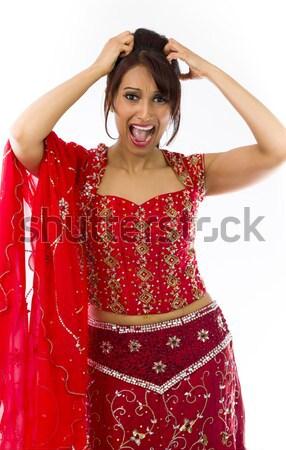 Fiatal indiai nő tánc mosolyog felnőtt Stock fotó © bmonteny