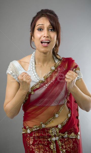 Young Indian woman looking frustrated Stock photo © bmonteny