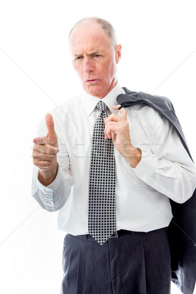 Businessman scolding somebody Stock photo © bmonteny