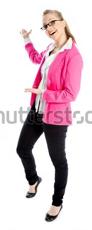 Aantrekkelijk kaukasisch blond 30 jaar oude meisje Stockfoto © bmonteny