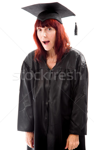 Mature student yawning Stock photo © bmonteny