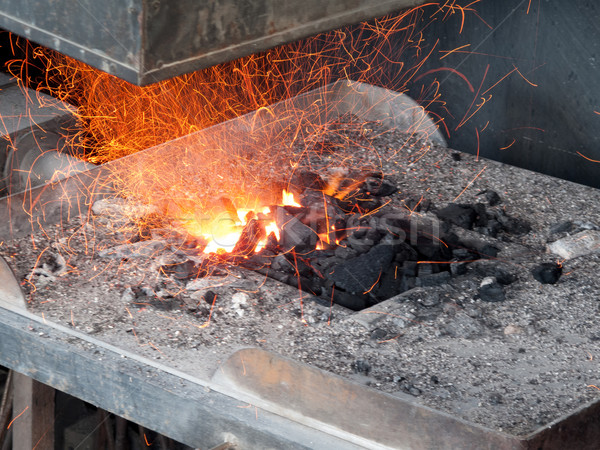 Forge in the workshop of a blacksmith Stock photo © bmonteny