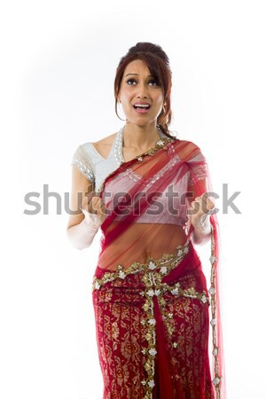 Stock photo: Angry Indian young woman scolding somebody