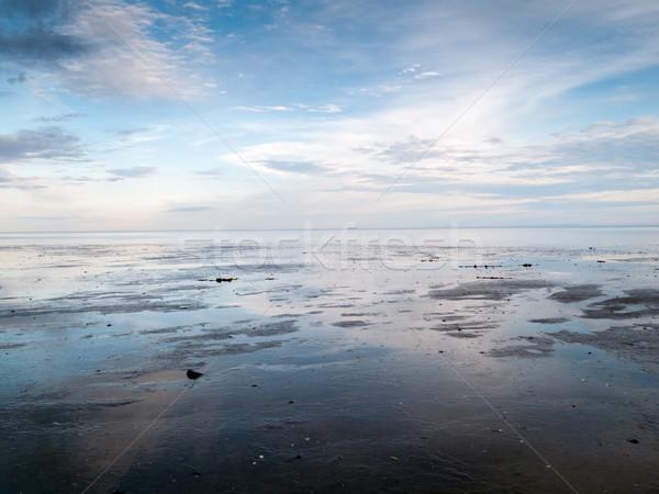 Tükröződés felhő víz Quebec Kanada tengerpart Stock fotó © bmonteny