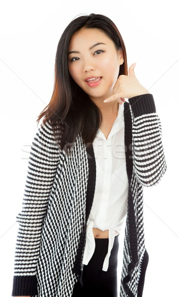 Aantrekkelijk asian meisje 20 jaren oude Stockfoto © bmonteny