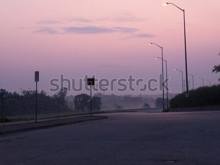 Straat licht weg Quebec Canada reizen Stockfoto © bmonteny