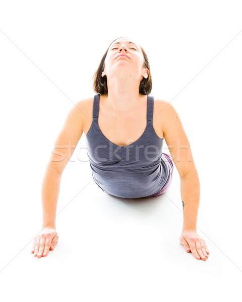 若い女性 ヨガ コブラ ポーズ ストックフォト © bmonteny
