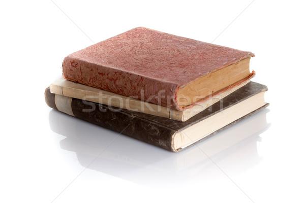 старые книгах изолированный белый Сток-фото © bmonteny