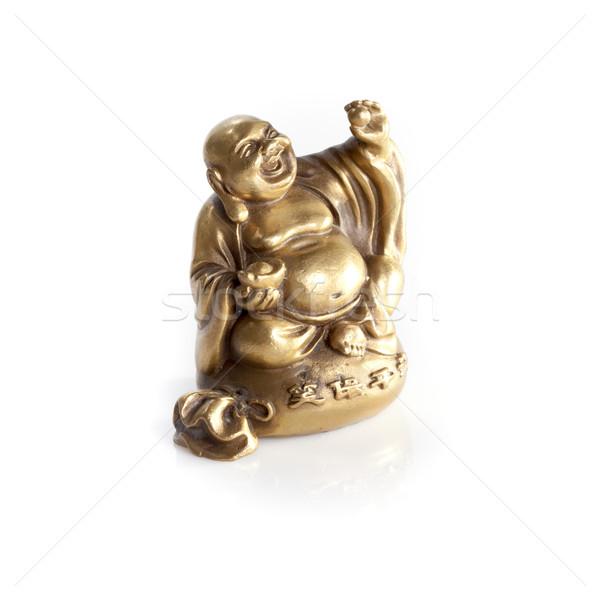 Altın Buda yalıtılmış beyaz Stok fotoğraf © bmonteny