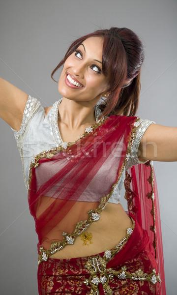 Giovani indian donna dancing sorridere adulto Foto d'archivio © bmonteny