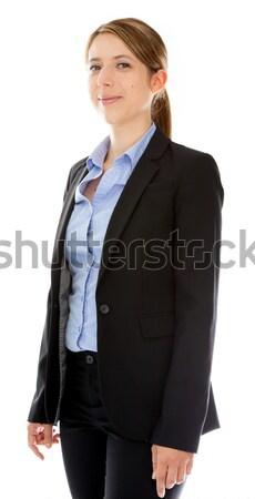 Attractive caucasian girl in studio Stock photo © bmonteny