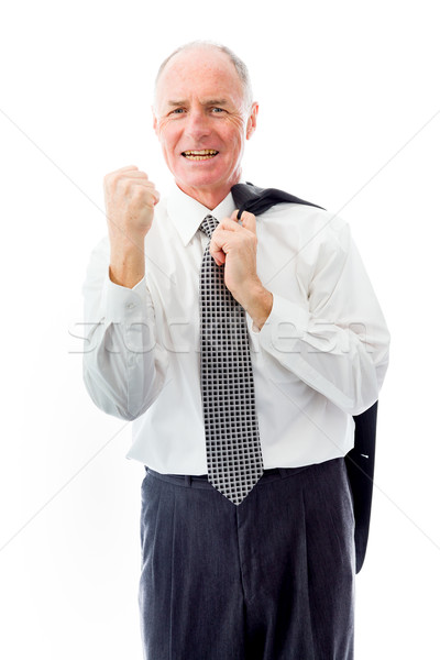 Businessman punching the air Stock photo © bmonteny