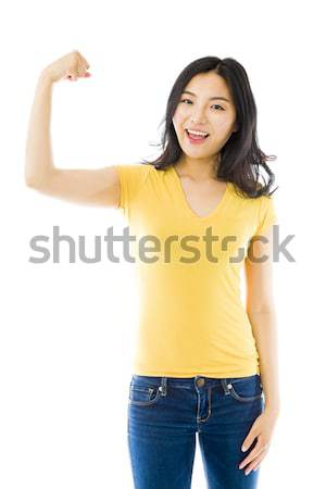 Young Asian woman day dreaming Stock photo © bmonteny