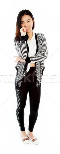 Attractive asian girl 20 years old shot in studio Stock photo © bmonteny