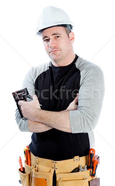 Kaukasisch man 40 jaar oude mannelijke Stockfoto © bmonteny