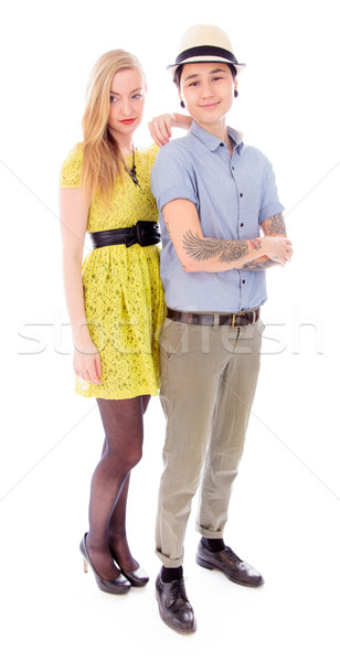 Lesbian couple standing together Stock photo © bmonteny