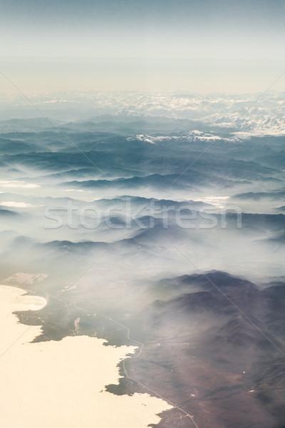 Aerial view of mountain range, Alberta's Rockies, Canadian Rocki Stock photo © bmonteny