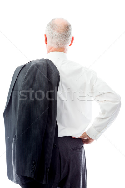 Rear view of a businessman standing with his hand on hip Stock photo © bmonteny
