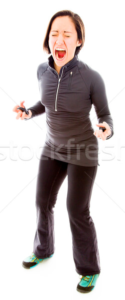 Young woman shouting in frustration Stock photo © bmonteny