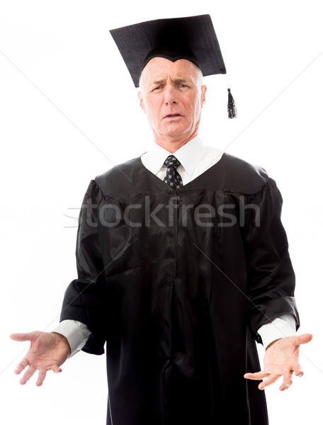 Senior male graduate questioning Stock photo © bmonteny