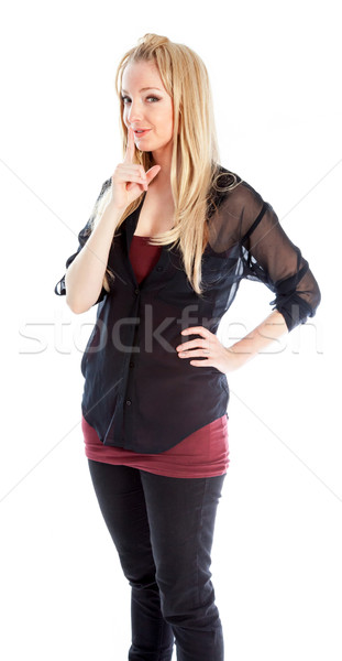 attractive caucasian blond in 30 years old Stock photo © bmonteny