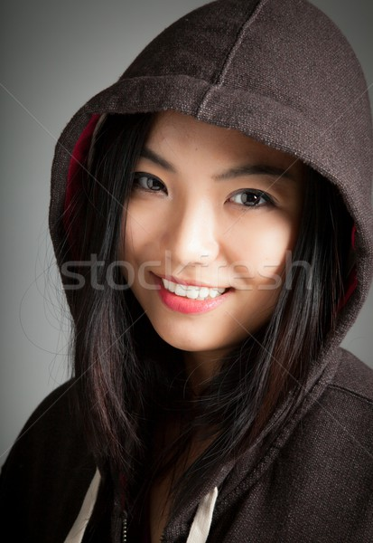 Attractive asian girl 20 years old shot in studio Stock photo © bmonteny