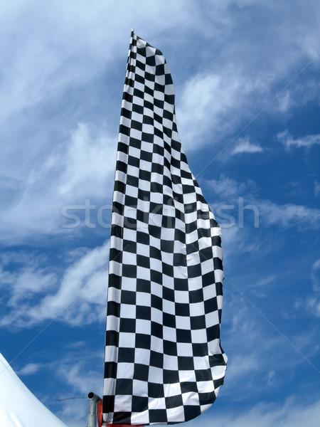 Vlag hemel zwarte Stockfoto © bmonteny