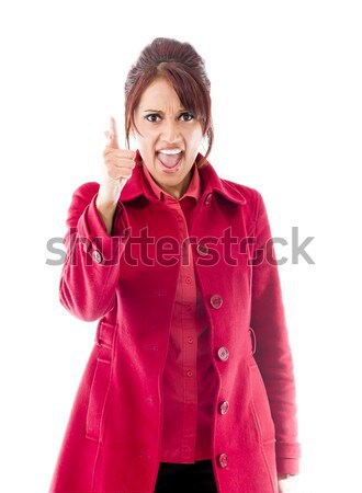 Angry Indian young woman scolding somebody Stock photo © bmonteny