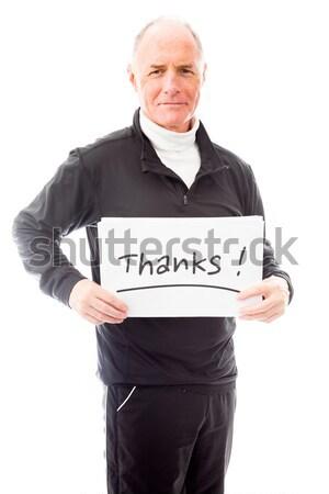 Senior man onderzoeken portret oude man Stockfoto © bmonteny