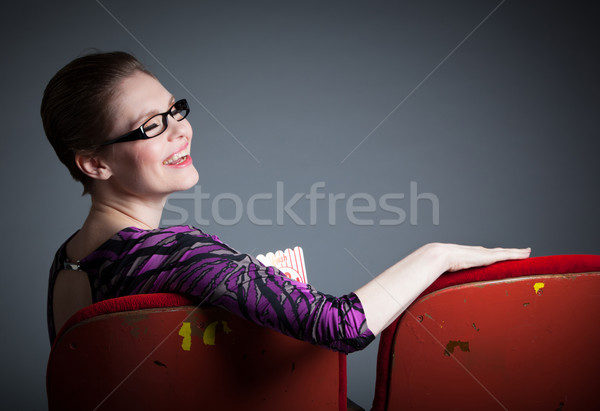 Attractive caucasian girl in her 30 shot in studio Stock photo © bmonteny