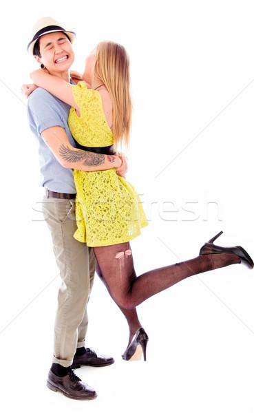 Stock photo: Lesbian couple romancing