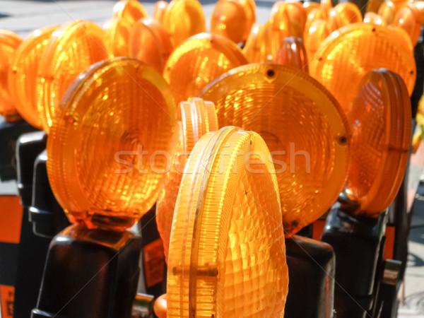 Construcción alerta luces naranja lámpara Foto stock © bmonteny