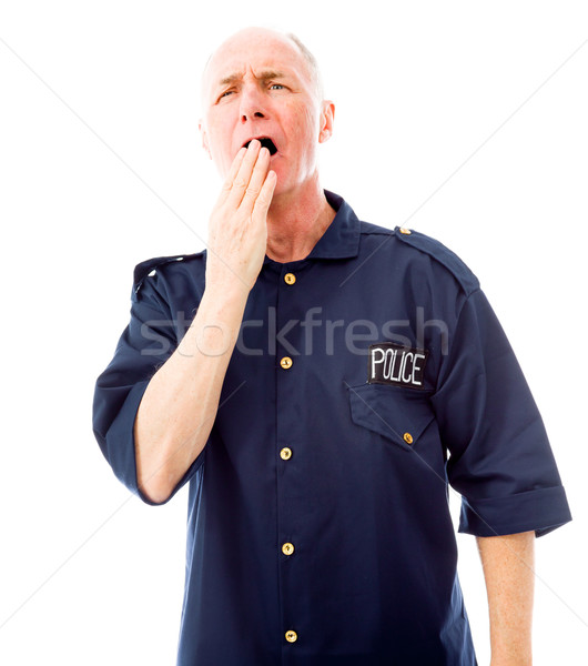 Policeman yawning Stock photo © bmonteny