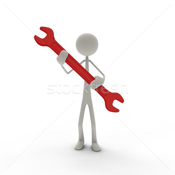 Figura rosso tenere business lavoro abstract Foto d'archivio © bmwa_xiller