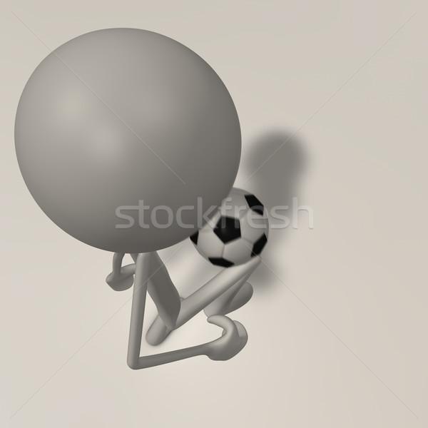 図 ジャグリング サッカー 先頭 表示 フィート ストックフォト © bmwa_xiller