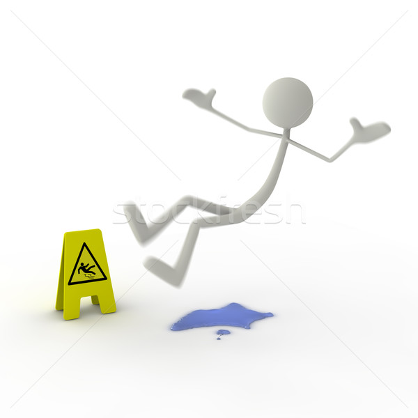 Stok fotoğraf: Anlamaya · sarı · tehlike · işareti · iş · su